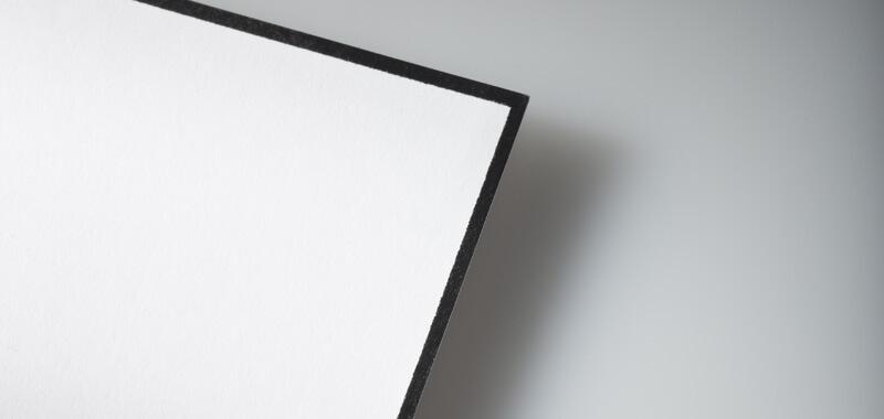Abbildung für eine Trauerkarte mit schwarzem Rand
