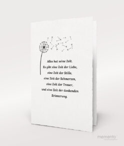 Produktbild Pusteblume Trauerkarte Büttenpapier