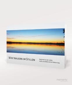 Produktbild Sonnenuntergang Trauerkarte Querformat