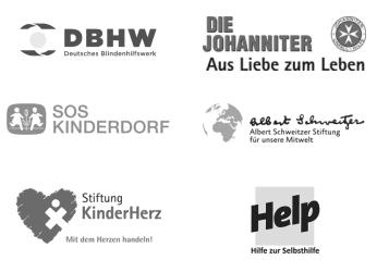 Logos Gemeinnütziger Organisationen mit Kranzspende