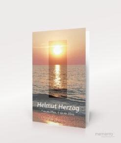 Produktbild Sterbebild Abendsonne am Meer