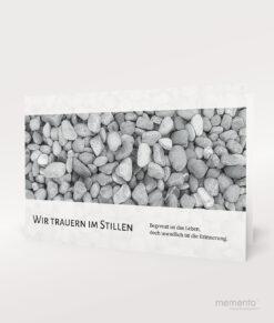 Produktbild Steine Trauerkarte Querformat